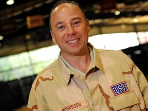 Barry Rohrssen on USO Tour