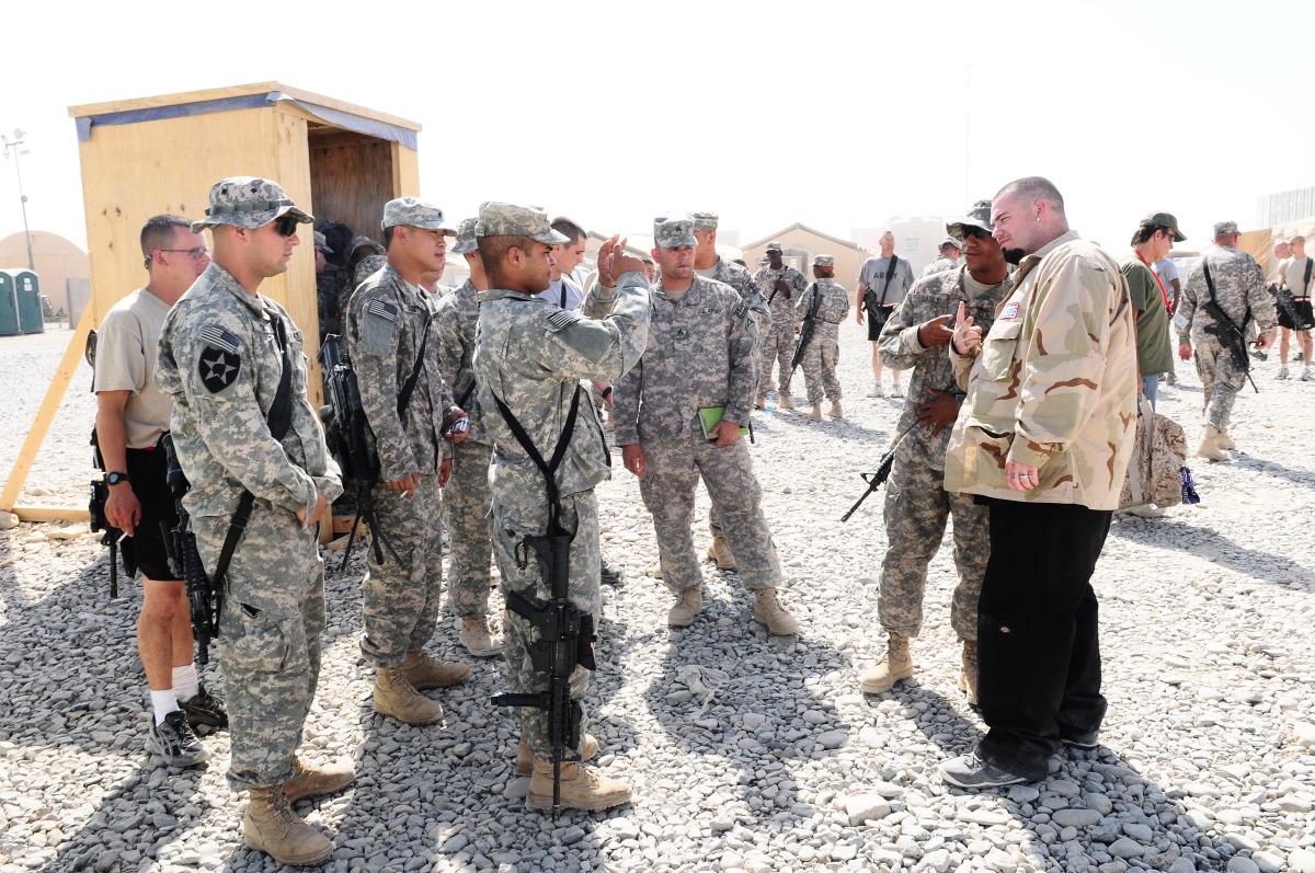 Paul Wall-DJ Smallz USO Tour=Kandahar, Afghanistan-August 27th,
