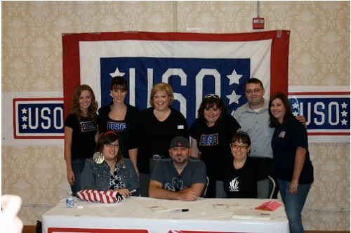 Ace of Cakes crew and USO