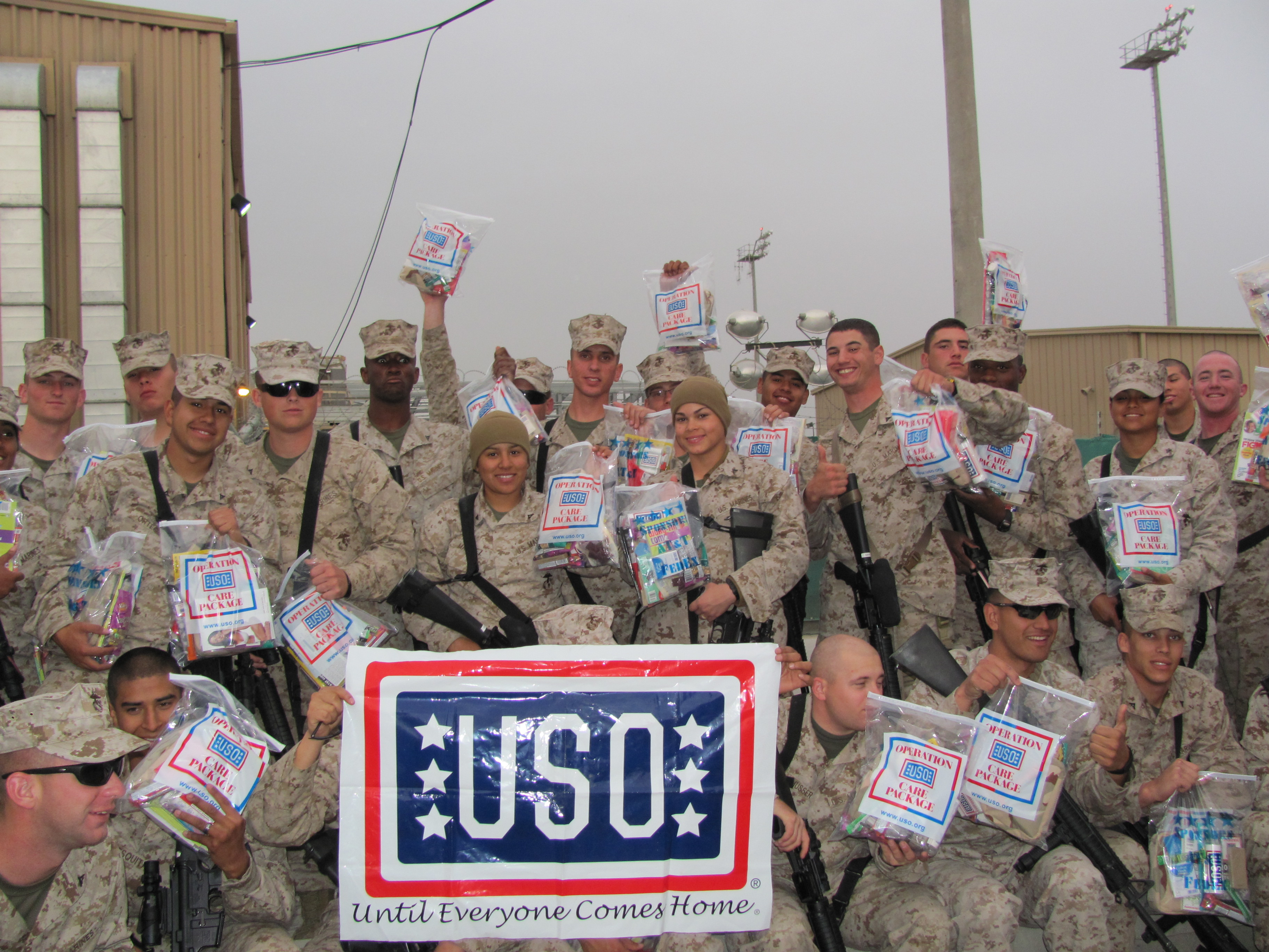 how to send care packages to troops