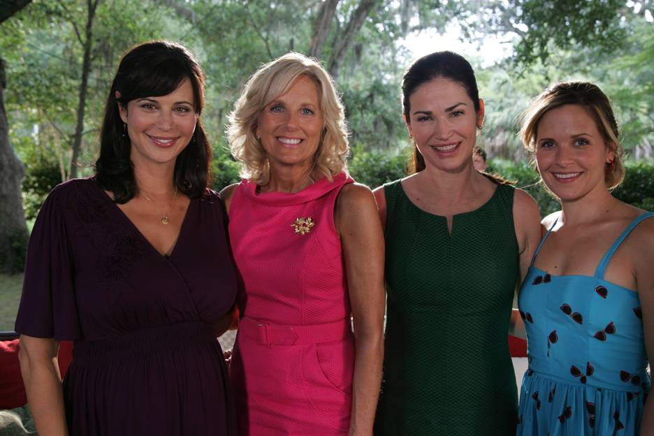 ... Army Wives during the taping of this week's episode. (Photo courtesy