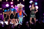 "Nicky Minaj (l) and Katy Perry perform ""Girls Just Want to Have Fun"""