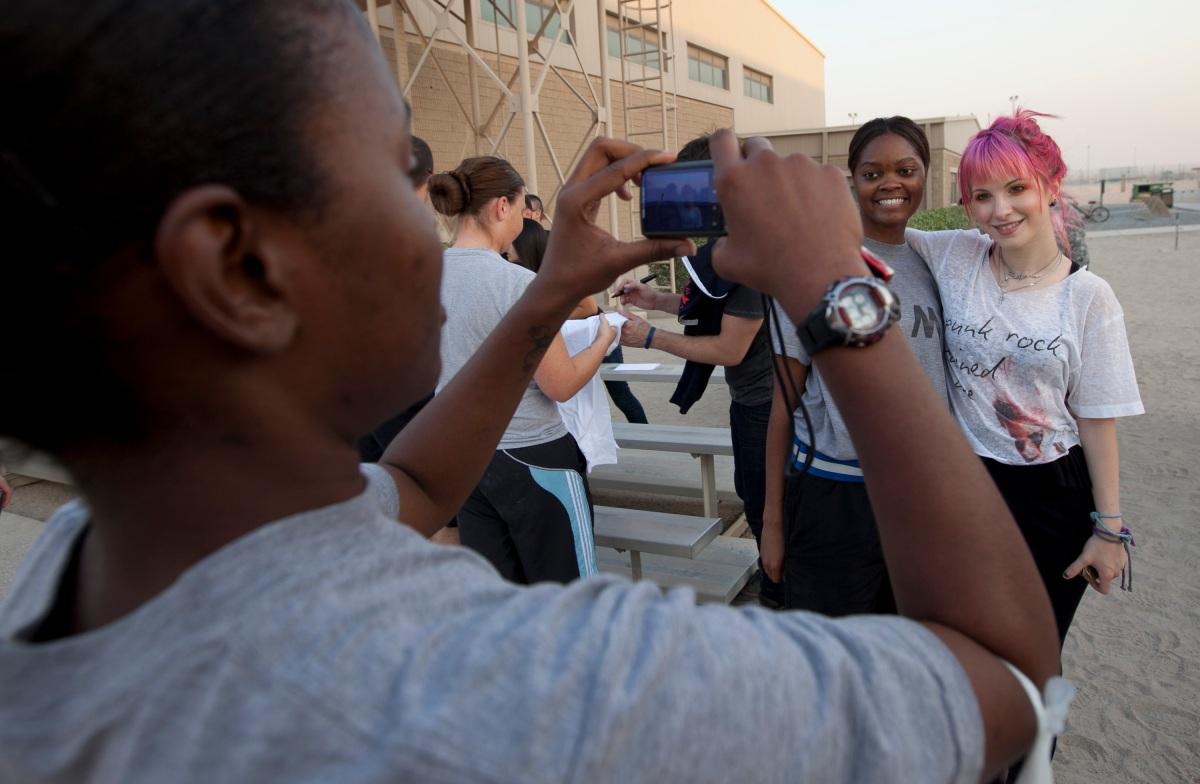 Paramore at Camp Arifjan in Kuwait