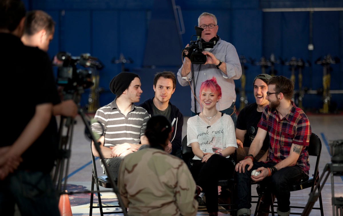 Paramore at Camp Arifjan in Kuwait
