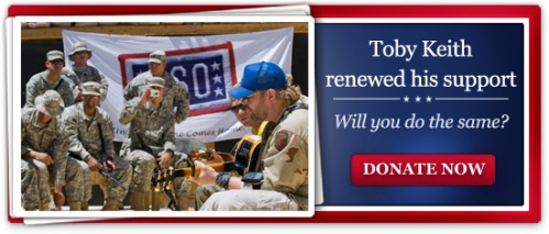 Toby Keith renewed his support, will you do the same?