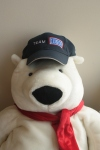 USO's resident bear models the exclusive Team USO cap!