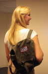 Blog post author Sarah Camille puts the fun in functional with her USO backpack
