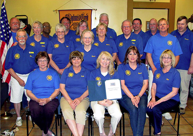 Members of the Apple Valley Optimist Club at Los Domingos on April 2, 2013 (Photo Credit: Apple Valley Optimist Club)