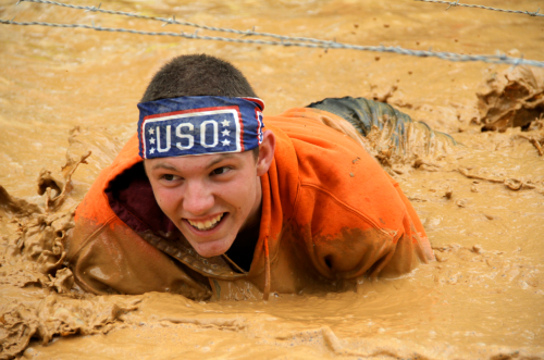 The USO was well-represented at the May 4 Rugged Maniac 5K Obstacle Race in Richmond, Va. USO photos by Joseph Andrew Lee
