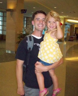 Alexander Carpenter with his daughter, Chloe, shortly after his third and final deployment as a Marine. Photo courtesy of Alexander Carpenter