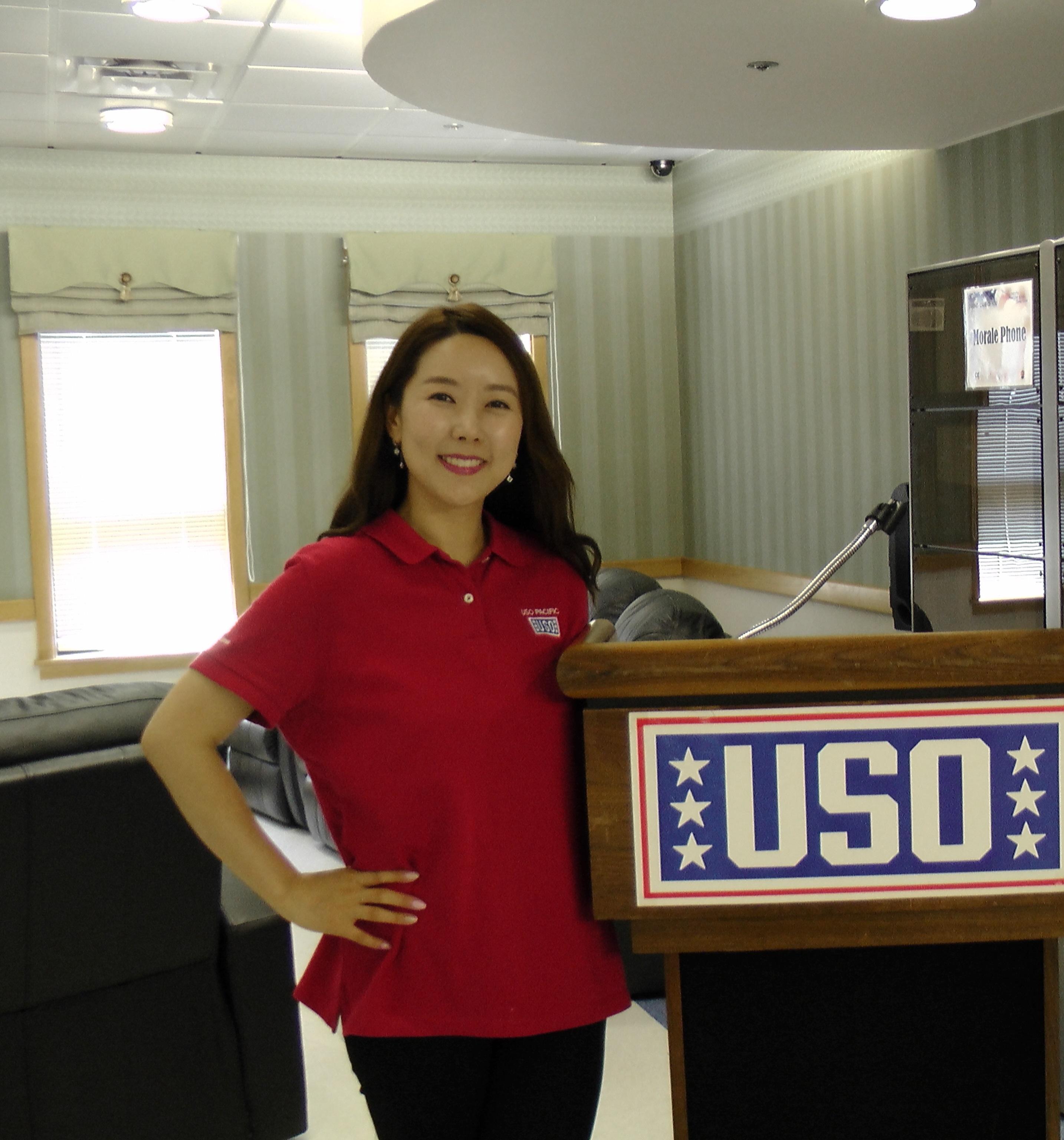 USO Osan Air Base Duty Manager Ju-Yeon Park. Courtesy photo