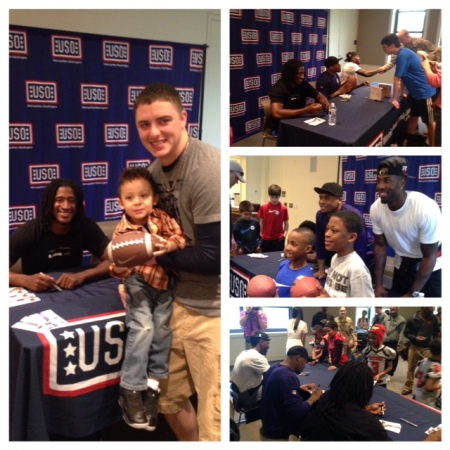 Photos from last week's meet-and-greet with NFL players at the USO Warrior and Family Center at Fort Belvoir, Va. USO photos