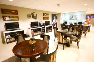 An inside view of the USO at Las Vegas McCarran International Airport.