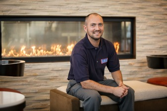 Jonathan Matthews, the USO's director of logistics & facilities. USO photo