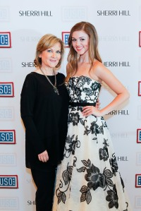 "Fashion designer Sherri Hill, left, ""Duck Dynasty"" star Sadie Robertson and hundreds of others helped make the USO's Operation That's My Dress a huge success for military teens. USO photo by Matthew Ziegler"