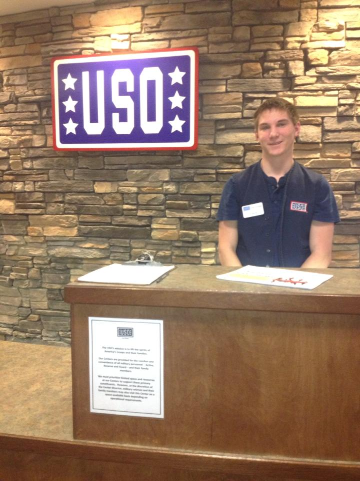 Fort Drum Youth Volunteer Gives USO Tip of the Cap at High