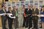The ribbon was cut Wednesday on a new USO of Metropolitan New York center inside John F. Kennedy International Airport. The center was donated by JetBlue. USO photos.