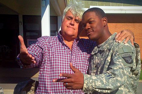 Comedian Jay Leno stopped by USO Fort Campbell on Oct. 17.