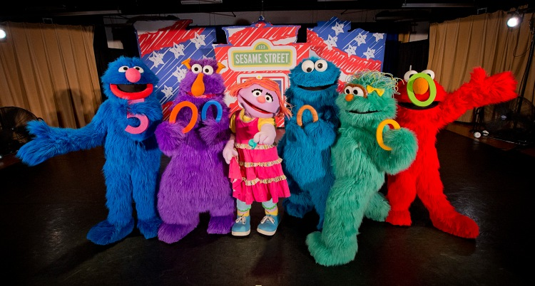 The Sesame Street/USO Experience for Military Families celebrated a major milestone with families at Fort Benning, Georgia, on October 3 when the tour entertained its 500,000th military family member. USO photo by Dave Gatley