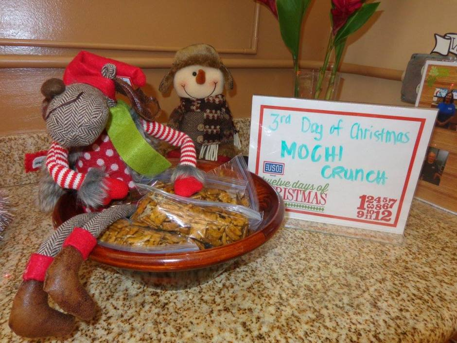 USO Hawaii centers offered new treats and givaways on each of the 12 Days of Christmas. USO photo