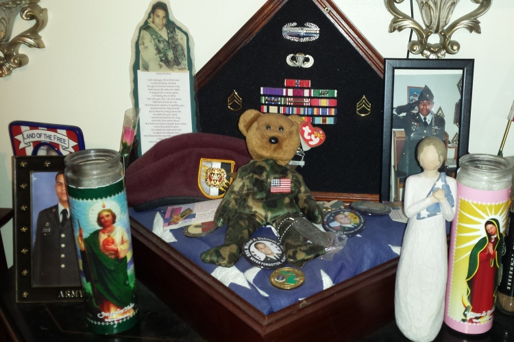 The beanie baby Vicki received during her USO visit. Photo courtesy Vicki Dickinson