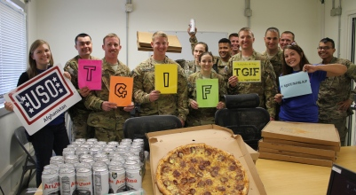 On Fridays, troops at USO Kandahar can kick back for a few moments and enjoy some special treats after a long week of hard work. USO photo