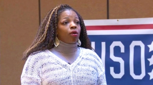 Army Capt. Amelia Campbell is one of many transitioning troops who have benefitted from a USO/Hire Heroes Workshop. Courtesy photo