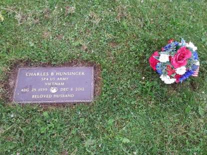 The grave of Charles Hunsinger, Army Spc. Austin Hunsinger's father. Photo courtesy Army Spc. Austin Hunsinger