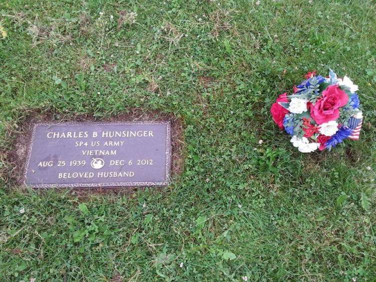 The grave of Charles Hunsinger, Army Spc. Austin Hunsinger's father. Photo courtesy Army Spc. Austin Hunsinger