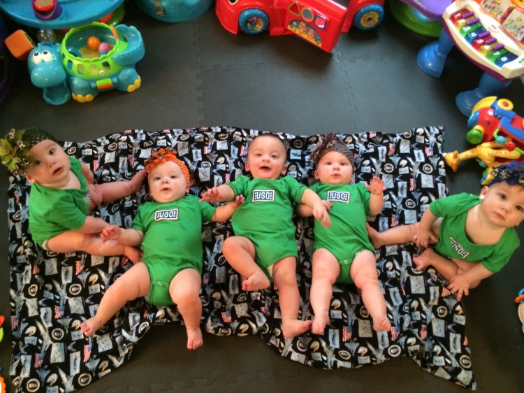 The Hoffman quintuplets. Photo courtesy the Hoffman family