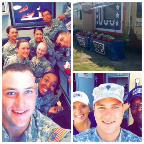 Images from the Mobile USO's stop in Oklahoma. Courtesy of Spc. Tyler Davis