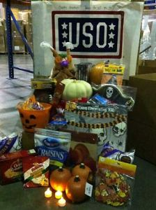 A Halloween/Thanksgiving USO Holiday Box from 2011.