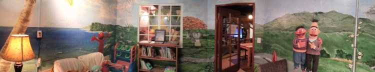 A panoramic view of part of the children's room at USO Guam. USO photos