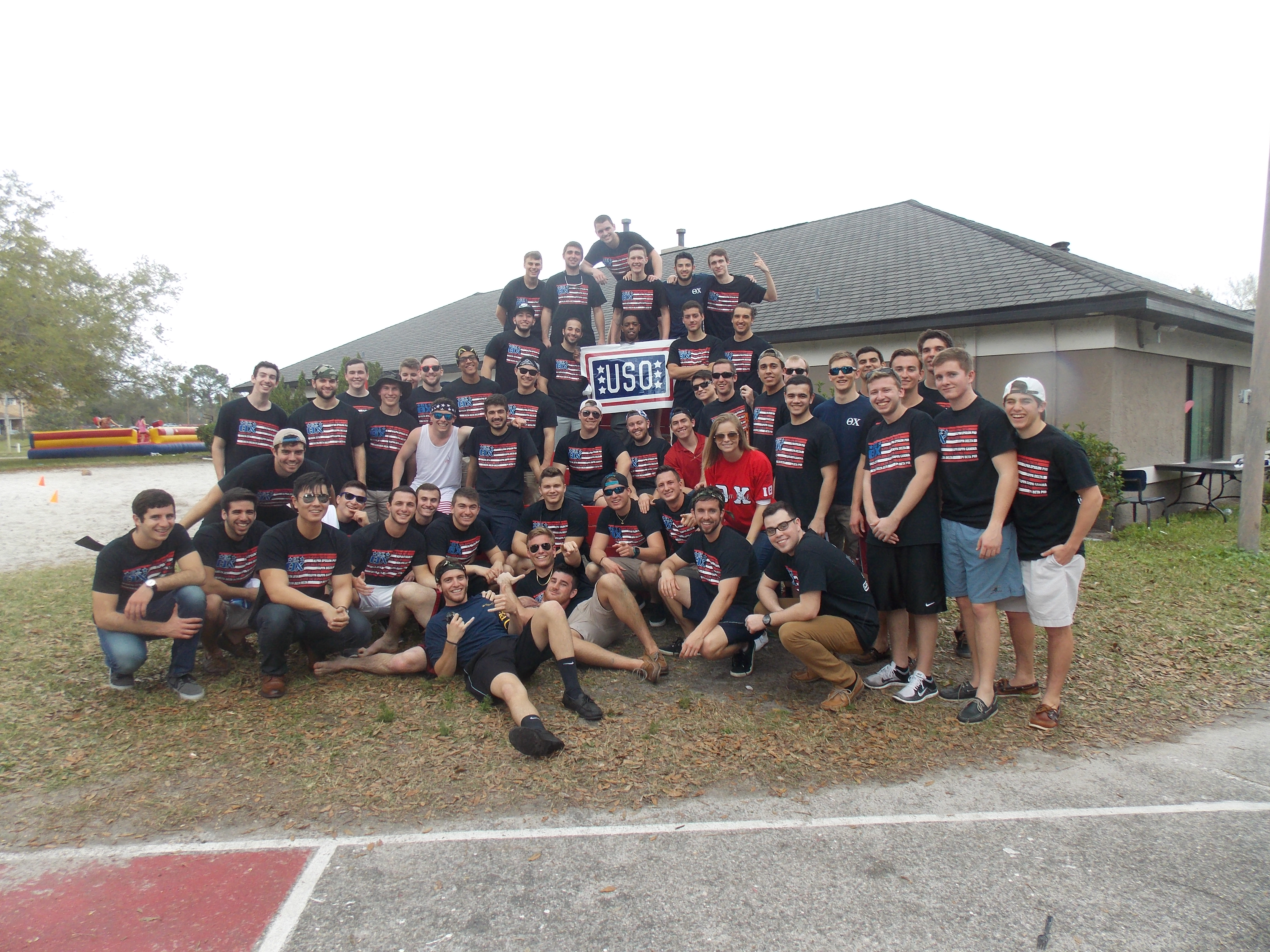 The brothers of Theta Chi — Iota Theta Chapter at the University of Central Florida pose at their 2015 G.I. Theta Chi event.
