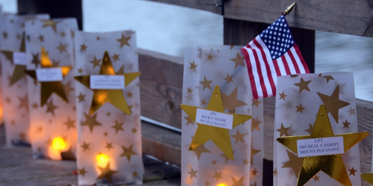 A 2012 Gold Star Mothers Day display at Fort Jackson, South Carolina. DOD photo